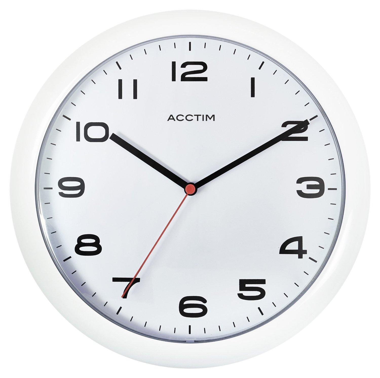 Acctim Aylesbury White Wall Clock C Chircop Ltd