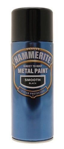 Hammerite Spray Smooth Black 400ml C Chircop Ltd